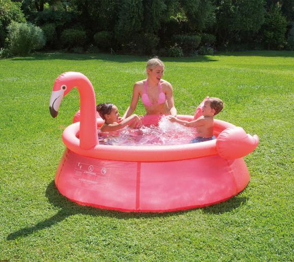 Summer Waves Swimming-Pool Flamingo Ø183 cm Planschbecken Aufstellpool 183x51 cm