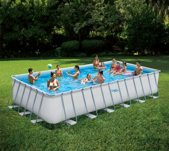 Summer Waves Pool Elite Aufstellpool Swimmingpool 7x3,5 m weiß