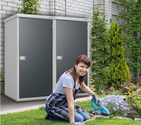 Trimetals Gartenschrank, Geräteschrank Small, Guardian D33 inkl.Boden