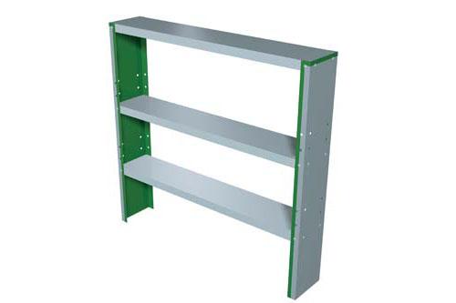 Trimetals 3-fach Regal für Geräteboxen