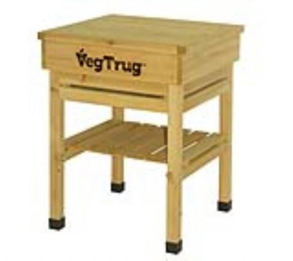 VegTrug Kids Holz Pflanztisch inkl. Ablagefach und Fußbschonern