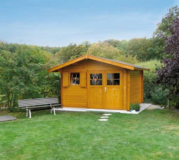 Weka Gartenhaus 109 Premium natur, 28mm, 420x370 cm