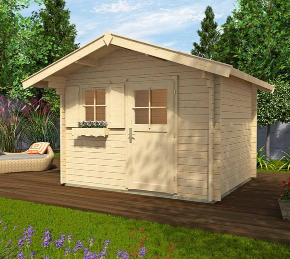Weka Gartenhaus 131 Premium natur, 45mm, 380x320 cm