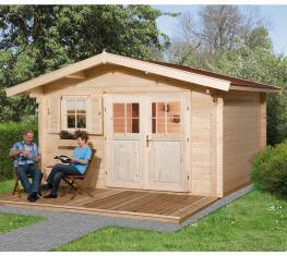 Weka Gartenhaus 136 Premium natur, 45mm, 460x370 cm