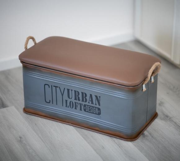 Westmann Aufbewahrungsboxen 3er Set rechteckig Dekokisten grau Lederdeckel