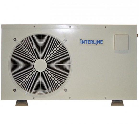 Interline Wärmepumpe 5,1kW für Schwimmbäder bis 30.000 Liter inkl. Bypass-Set