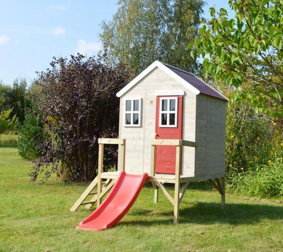 Wendi Toys Kinderspielhaus Löwe Spielturm inkl. Veranda & Rutsche