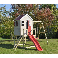 Wendi Toys Kinderspielhaus Elefant Spielturm inkl. Veranda & Rutsche