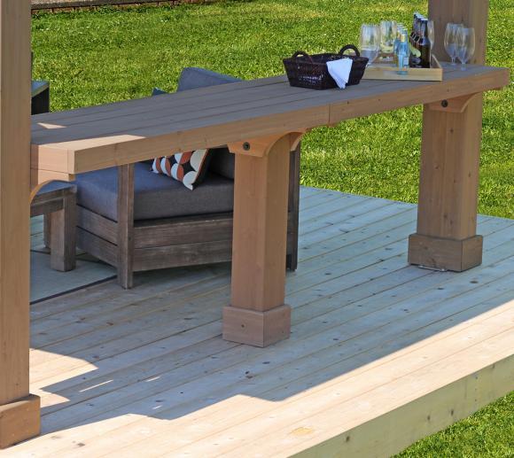 Westmann Seitenablage für Holz Pavillon Yukon 14x12 braun