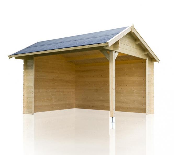 outdoor life gartenhaus kirian 300 28mm 420x379 5 cm. Black Bedroom Furniture Sets. Home Design Ideas