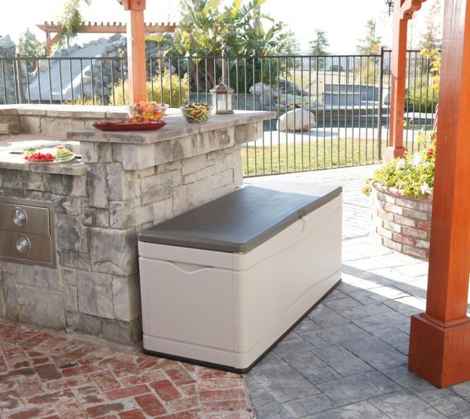 neu ovp lifetime xxl kissenbox gartenbox gartentruhe ca 500l stauraum ebay. Black Bedroom Furniture Sets. Home Design Ideas