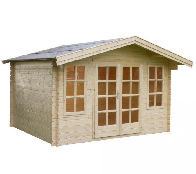outdoor life gartenhaus robin 280 28mm 380x344 cm. Black Bedroom Furniture Sets. Home Design Ideas