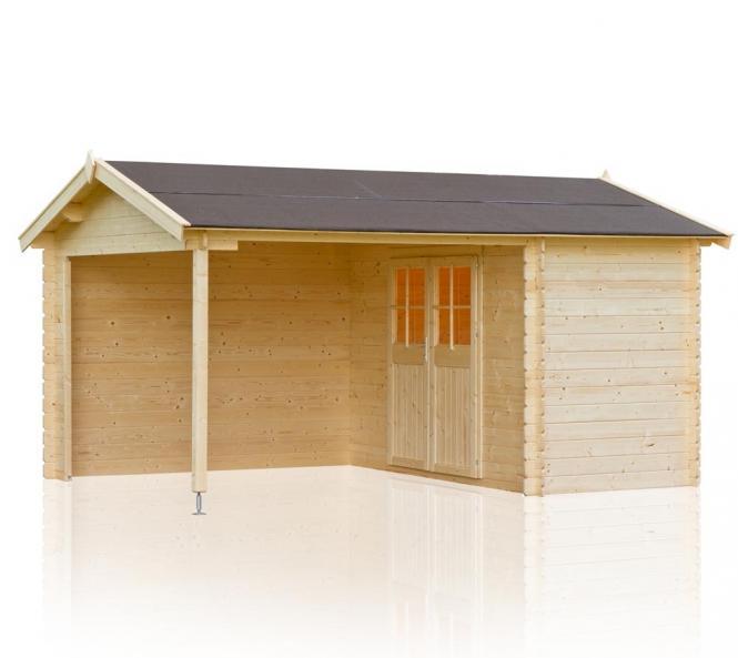 outdoor life gartenhaus walter 300 28mm 467x340 cm. Black Bedroom Furniture Sets. Home Design Ideas