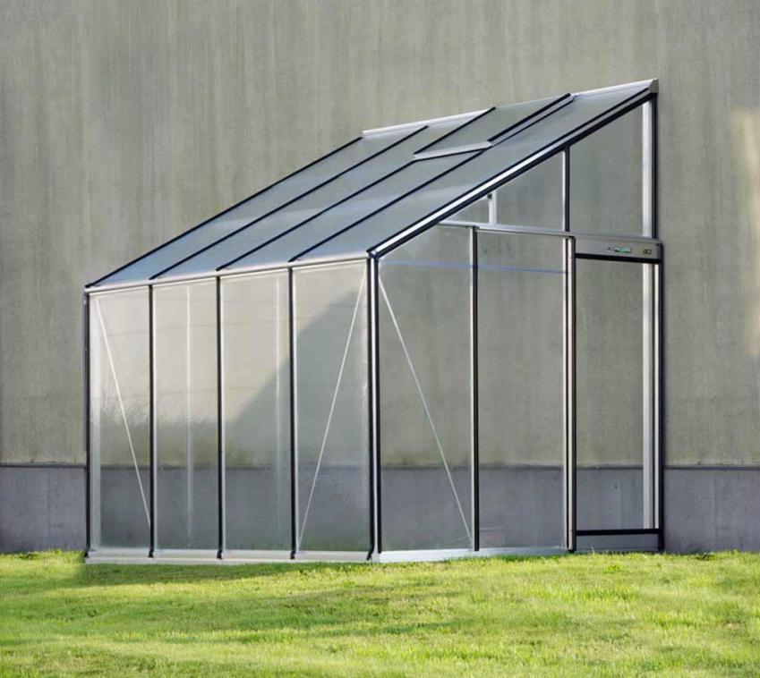 ACD Aluminium Glas Anlehngewächshaus MR310H-RAL