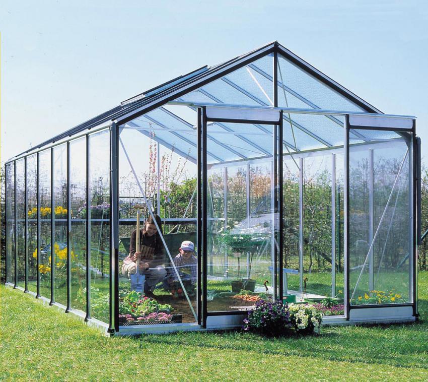 ACD Aluminium Glas Gewächshaus R307H-B, 15,88m²