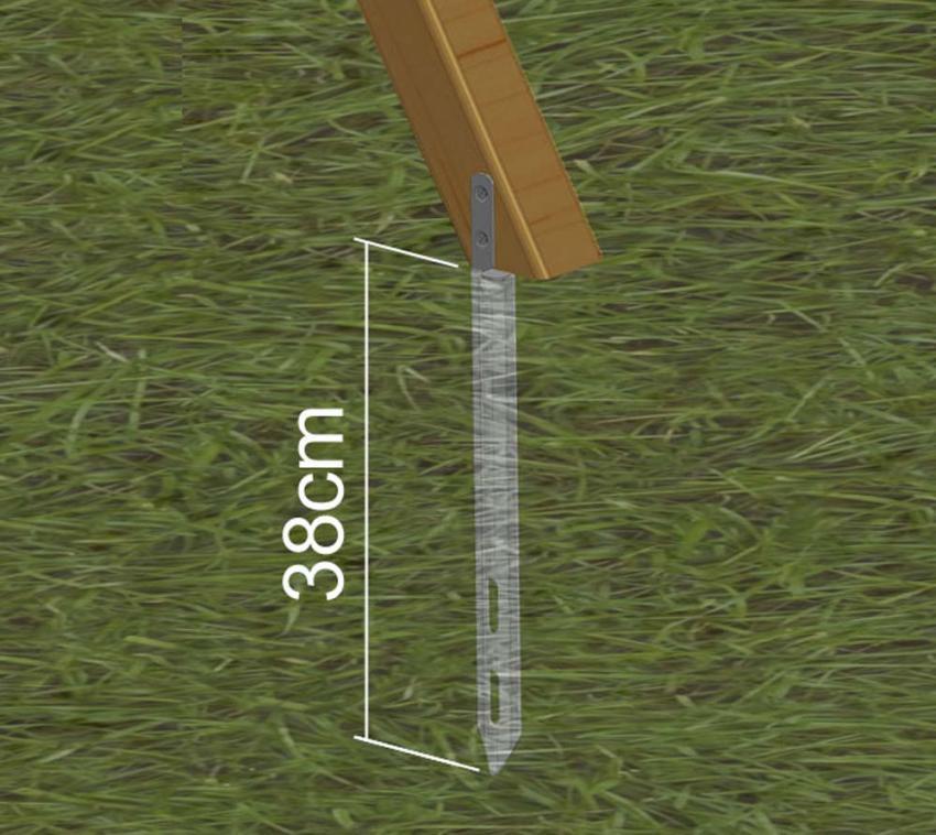 EXIT Ankerset für Spielgeräte (4 Stück)