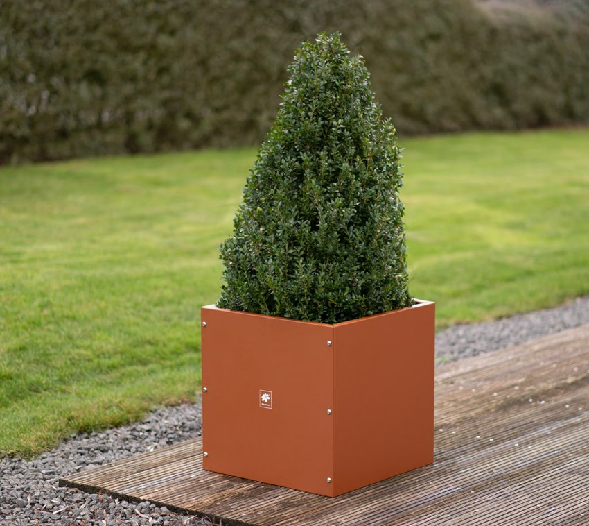 Herstera Garden Metall Pflanzkübel Cube Blumenkasten 50x50x50 cm rost