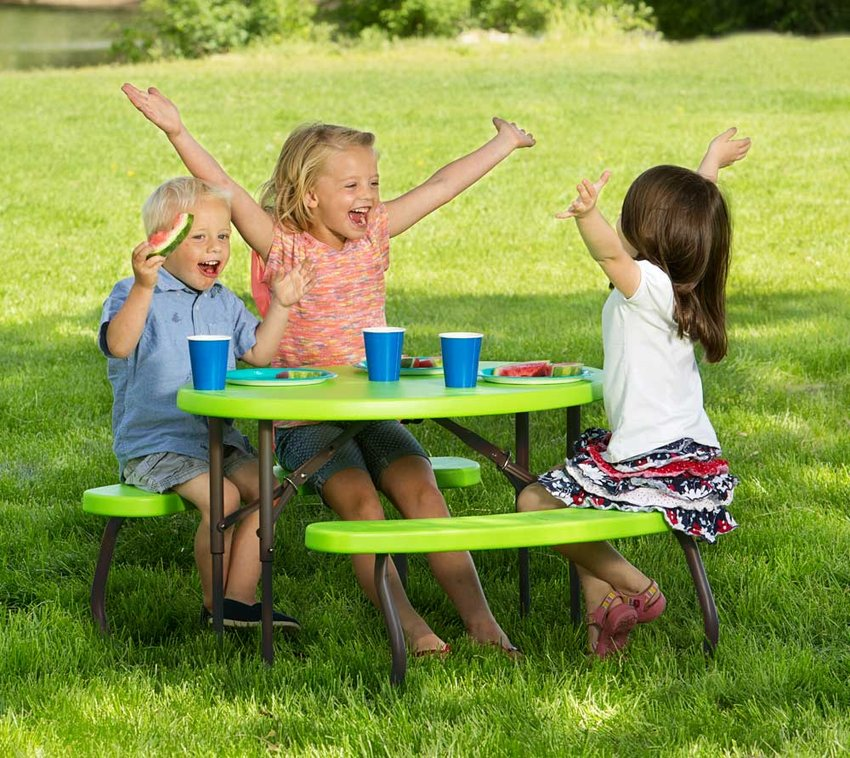 Lifetime Kunststoff Kinder Picknickgarnitur Sitzgarnitur grün