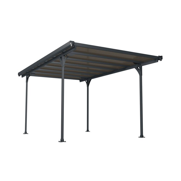 Palram Carport Verona 5000 inkl. Regenrinnen und Befestigungskit