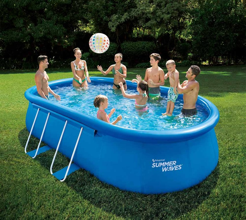Summer Waves Aufblasbarer Quick Set Pool Blau 549x345x107 cm