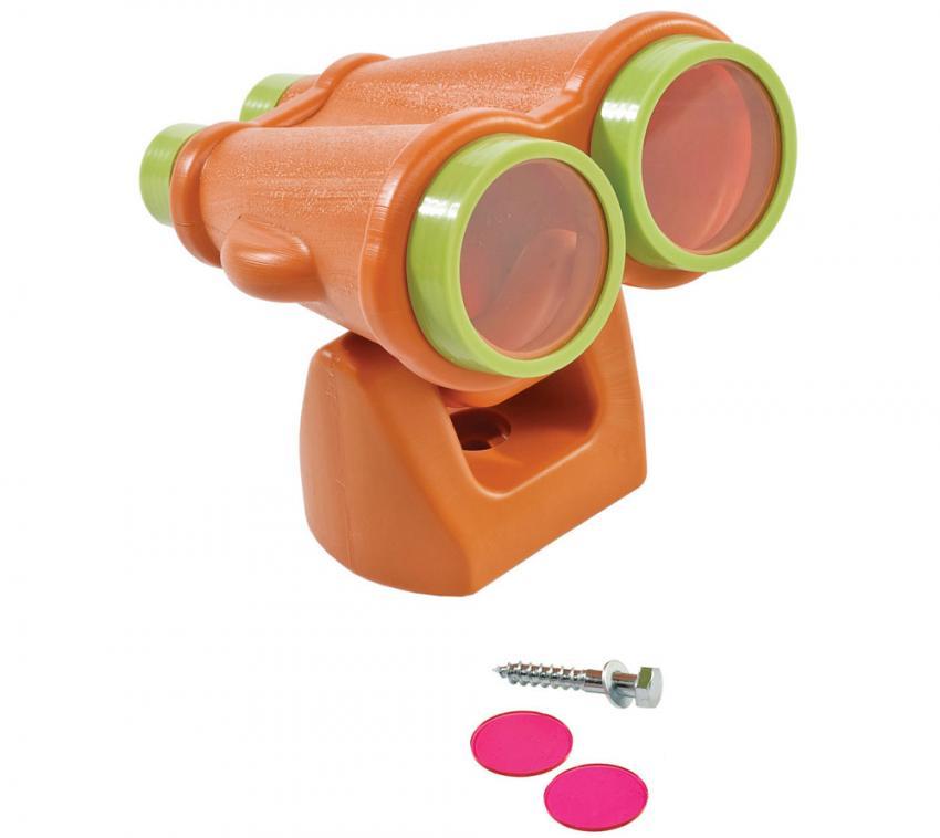 KBT Kinderspielhaus Zubehör Fernglas Fernrohr für Spielgerät Spielturm orange