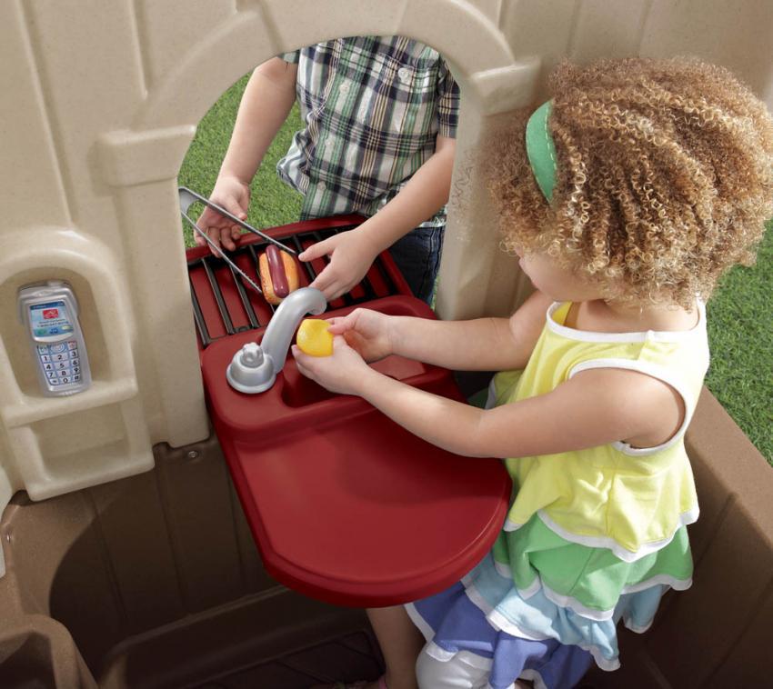 Step2 Spielhaus Happy Home Spielküche Kunststoff 120x120 cm