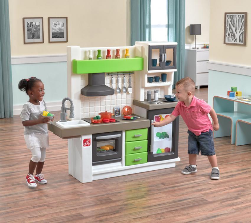 Step2 Spielküche Euro Kinderspielküche Kunststoff 40x130cm