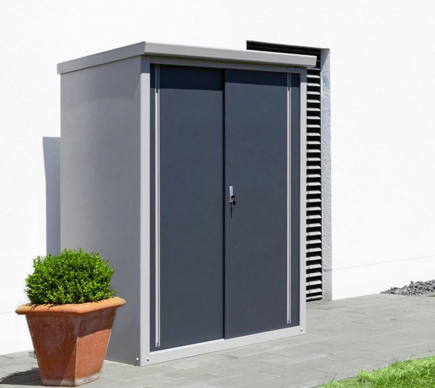 Trimetals Gartenschrank Geräteschrank Medium Guardian D43 inkl.Boden