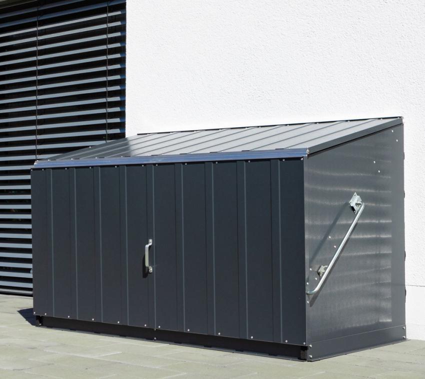 Trimetals Fahrradbox, Gerätebox, Aufbewahrungsbox Storeguard Anthr.