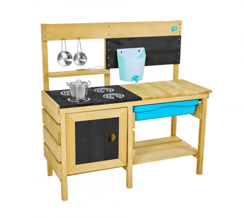 TP Toys Spielküche Deluxe Outdoorküche Matschküche mit Zubehör 40x136x96 cm