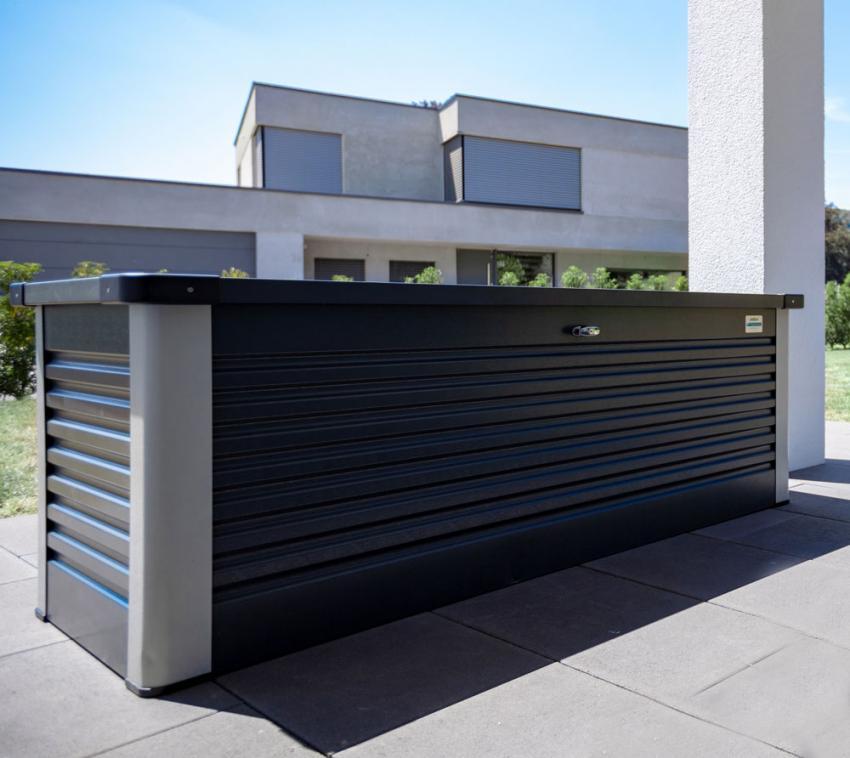 Trimetals Kissenbox Gartenbox XXL 850l Anthrazit