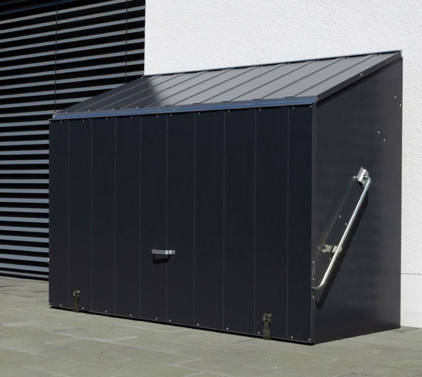 Trimetals Fahrradbox, Gerätebox, Aufbewahrungsbox Sesame Anthrazit