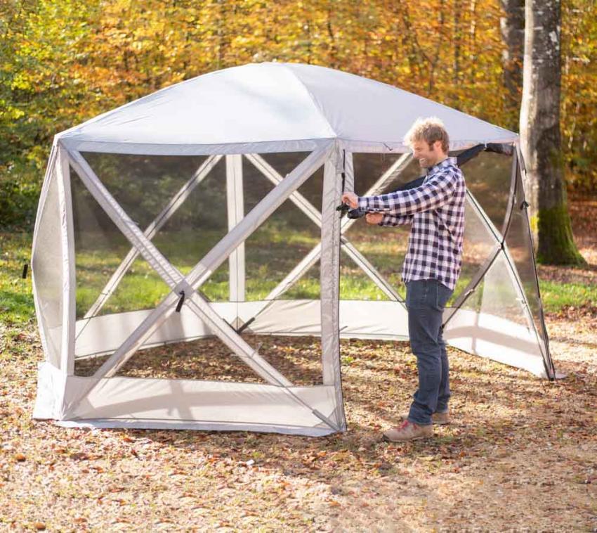 Westmann Camping Pavillon Flexion grau 350x300x225 cm