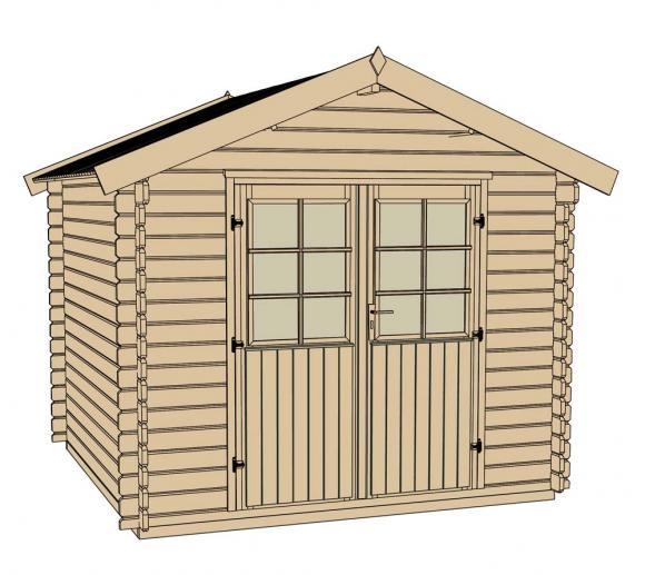 weka gartenhaus 209 natur 28mm 333x360 cm mygardenhome. Black Bedroom Furniture Sets. Home Design Ideas
