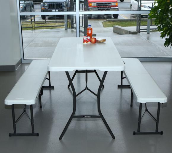 lifetime kunststoff bierzeltgarnitur camping klapptisch set 3 teilig 183 cm mygardenhome. Black Bedroom Furniture Sets. Home Design Ideas