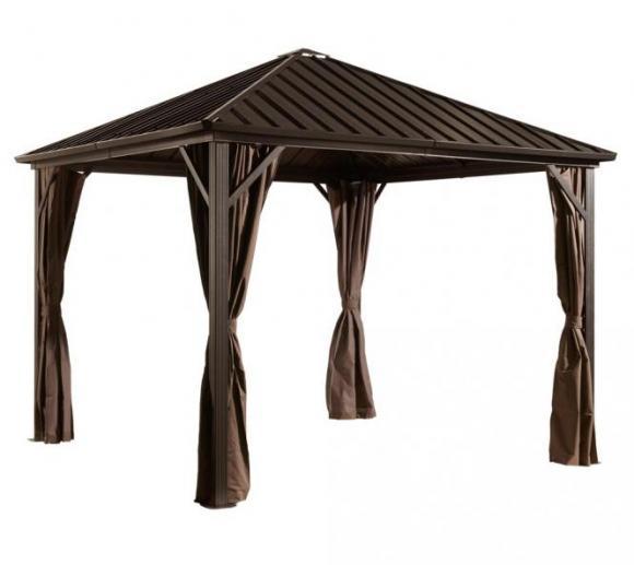 sojag pavillon dakota 8x8 vorh nge seitenteile mokka. Black Bedroom Furniture Sets. Home Design Ideas