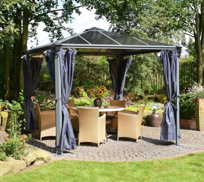 palram aluminium gazebo pavillon martinique vorh nge seitenteile gardinen ebay. Black Bedroom Furniture Sets. Home Design Ideas