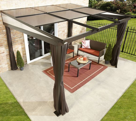 sojag aluminium terrassen berdachung budapest 10x12 298x364 cm mygardenhome. Black Bedroom Furniture Sets. Home Design Ideas