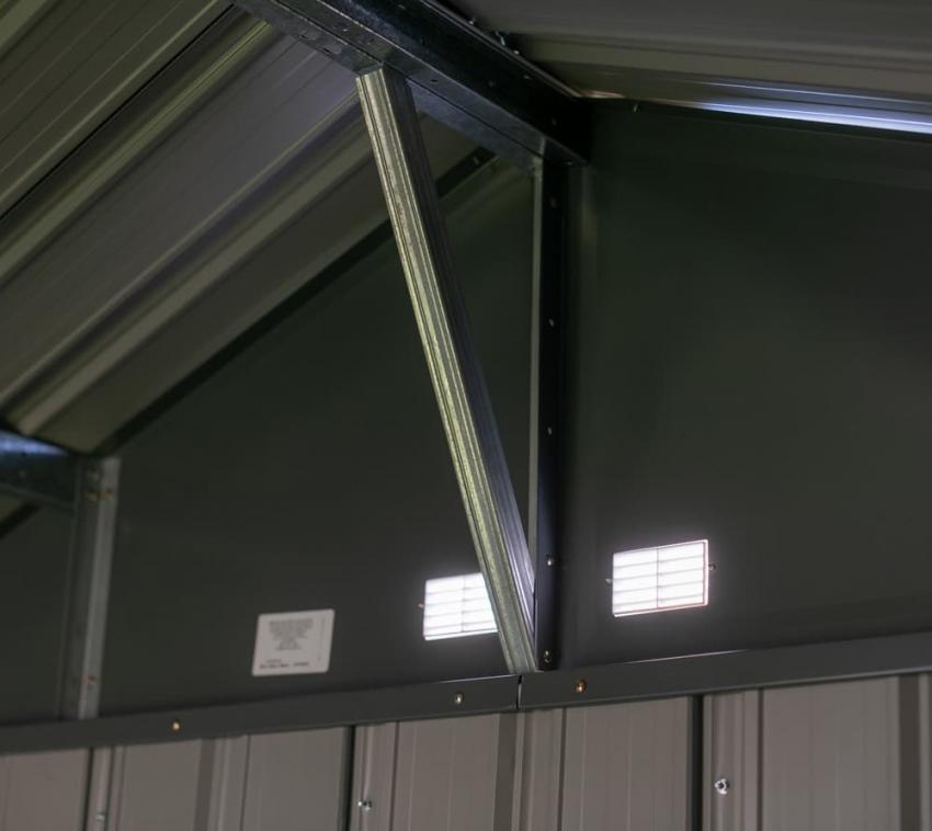Spacemaker Geräteschuppen Gerätehaus EZEE 238x218 cm Gartenhaus Garten Metall
