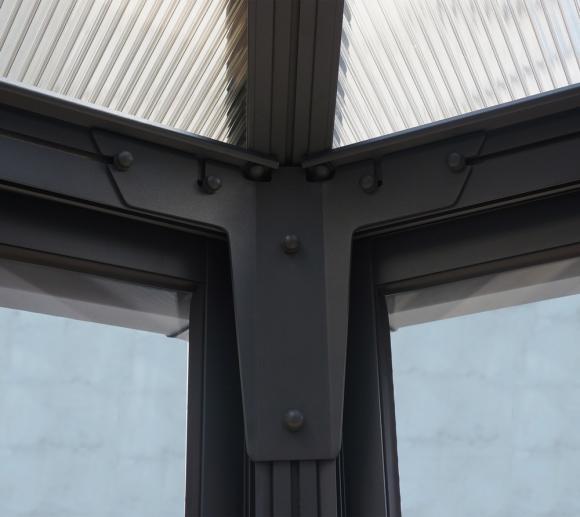 Palram Aluminium Wintergarten Und Pavillon Garda 596x596 Cm