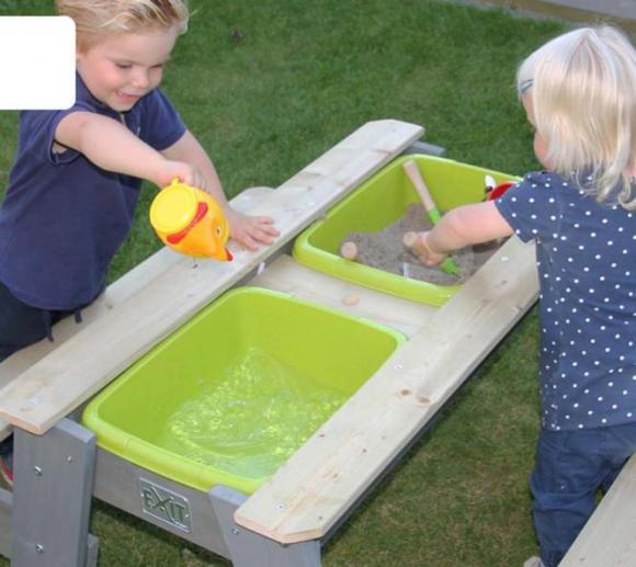 Gartenmobel Zu Verschenken Munster : EXIT Aksent Sand, Wasser & Picknicktisch inkl 2 Bänken und Wannen