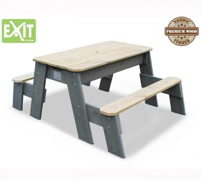 exit aksent sand wasser picknicktisch inkl 2 b nken und wannen mygardenhome. Black Bedroom Furniture Sets. Home Design Ideas