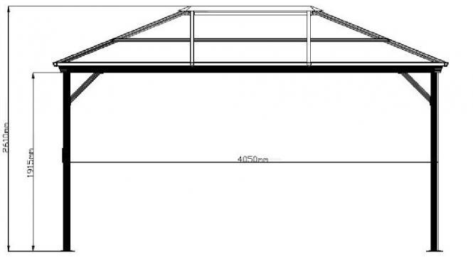 neu ovp sojag aluminium gazebo pavillon berdachung verona 10x14 298x423 cm ebay. Black Bedroom Furniture Sets. Home Design Ideas