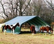 ShelterLogic Run-In-Shed Weidezelt Weideunterstand, 40,9m², 670x610 cm