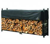 ShelterLogic Kaminholzregal 240cm mit Abdeckung, 2.000kg Traglast