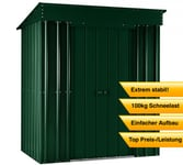 Globel Industries Metallgerätehaus Skillion 6x4 heritage green / 171x113 cm