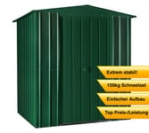 Globel Industries Metallgerätehaus 6x6 heritage green / 171x175 cm