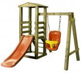 Plus Spielturm mit Anbauschaukel für Kleinkinder