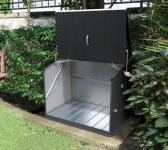 Trimetals Fahrradbox, Gerätebox, Aufbewahrungsbox Stowaway Anthr.
