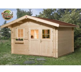 weka gartenhaus 109 premium natur 28mm 420x320 cm mygardenhome. Black Bedroom Furniture Sets. Home Design Ideas